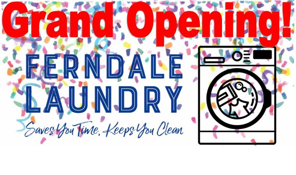 ferndale laundry grand opening graphic
