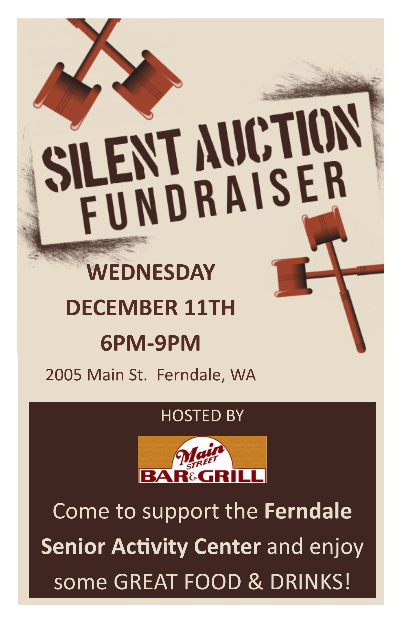 silent auction fundraiser graphic