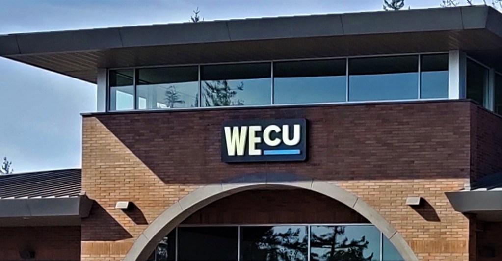 Whatcom Educational Credit Union (WECU) Ferndale branch exterior (March 19, 2020). Photo: My Ferndale News