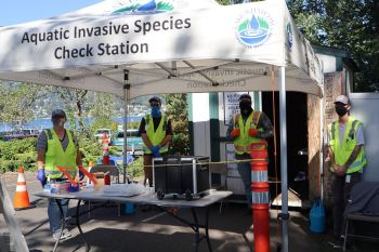 Aquatic Invasive Species Check Station. Source: Whatcom County Public Works