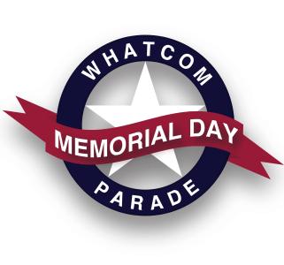 Whatcom Memorial Day Parade logo (2021)