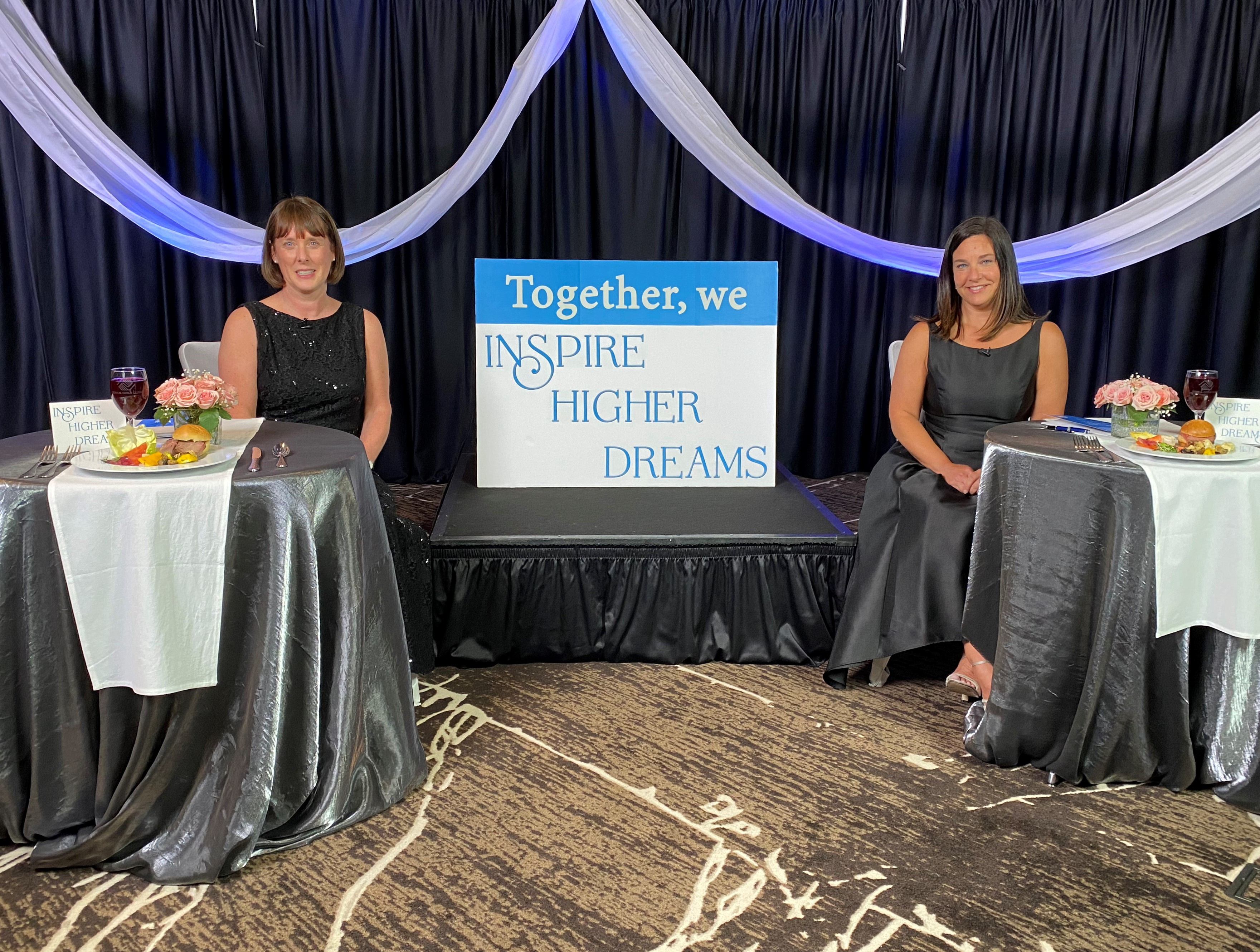 Sara Maloney (l) and Heather Powell (r) of Boys & Girls Clubs in Whatcom County are seen hosting the 2021 online gala and auction (April 27, 2021). Photo courtesy of BGCWC