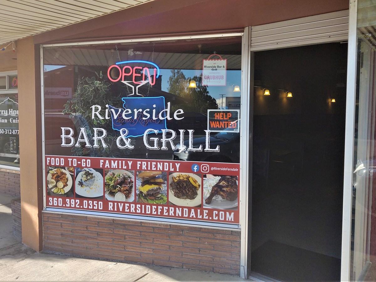 Riverside Bar & Grill exterior (July 21, 2021). Photo: Whatcom News