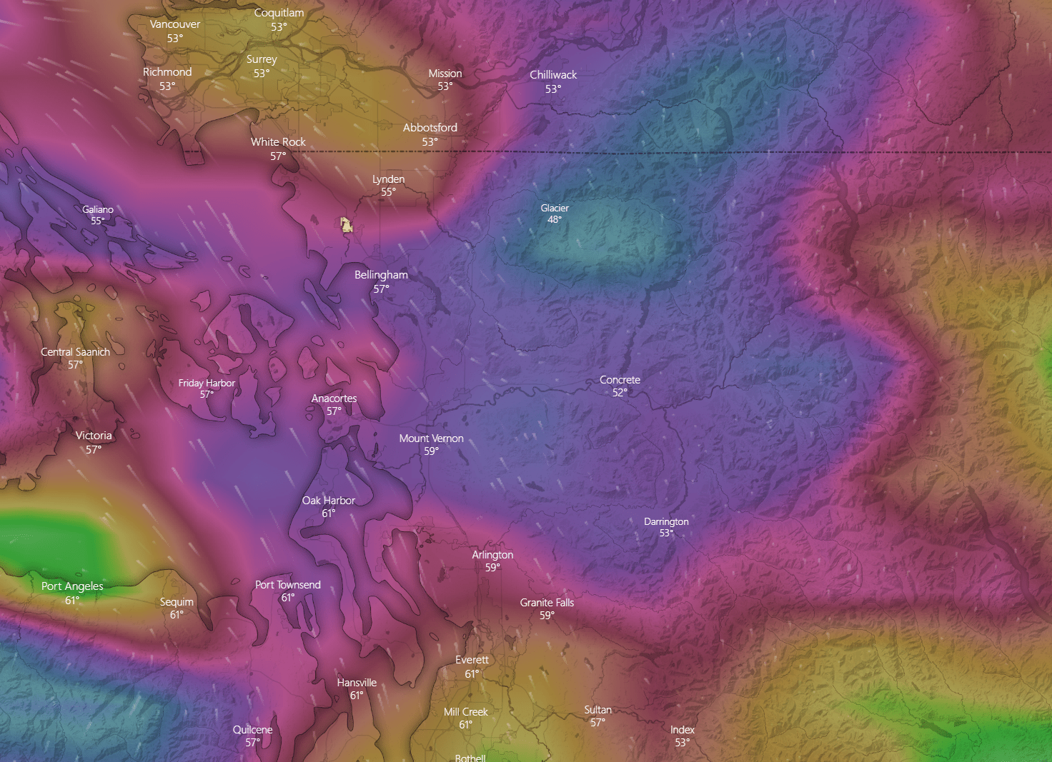 European Centre for Medium-Range Weather Forecasts (ECMWF) wind gust forecast for 6pm on Friday, September 17th Source: Windy.com