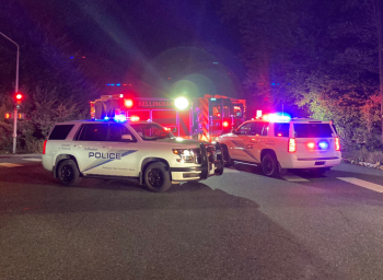 Bellingham Fire Department and Police Department vehicles (September 28, 2021). Photo courtesy of Bellingham Police Department