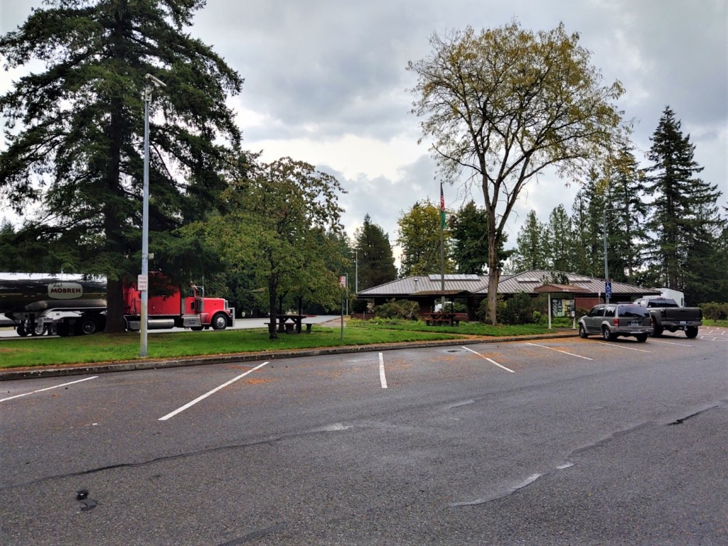 Custer rest area on southbound I-5 (October 13, 2021). Photo: Whatcom News