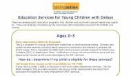 School Services for Children Under Five
