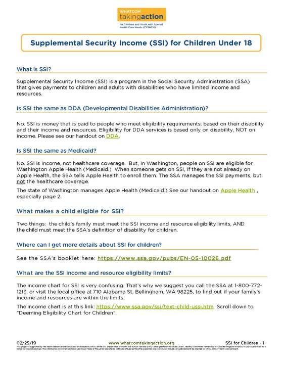 SSI for Children 2019-02-25_Part1