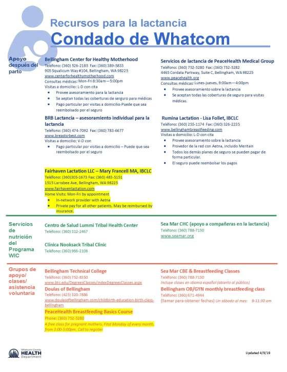 Breastfeeding Resources_Whatcom County 2019-04-09 - Spanish_Page_1