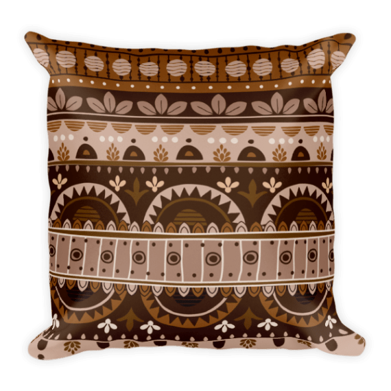 Amazing Brown Square Pillow
