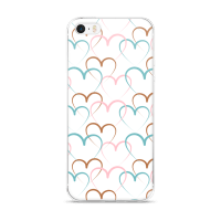 Decorative Hearts Pattern Vector iPhone 5/5s/Se, 6/6s, 6/6s Plus Case