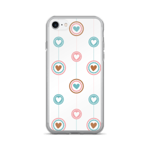 Flat Design Lines And Hearts For iPhone 7/7 Plus Case