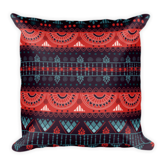 Harmony Violet Square Pillow