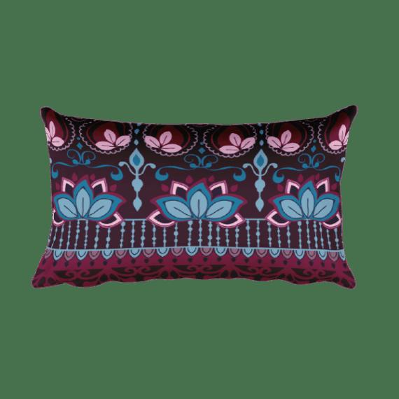 India Burgundy Rectangular Pillow