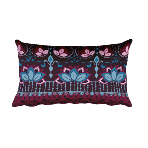 India Burgundy Rectangular Pillow