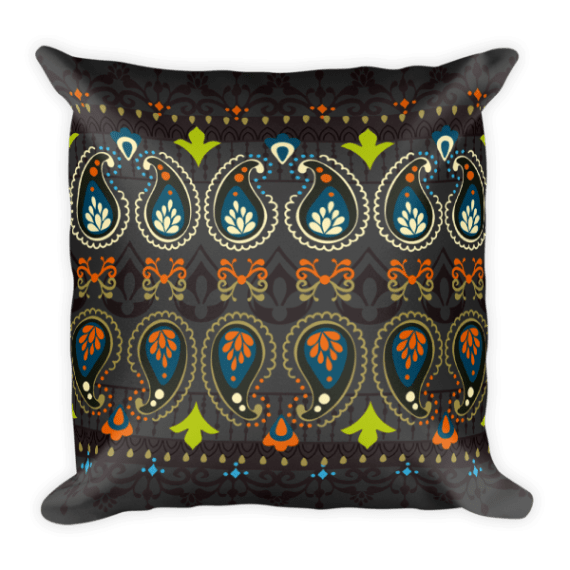 India Jewellery Square Pillow
