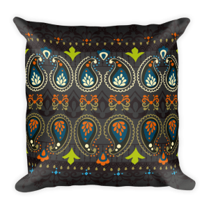 India Jewellery Square Pillow