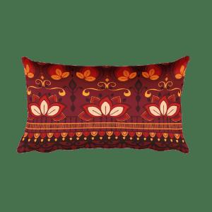 India Pattern Rectangular Pillow