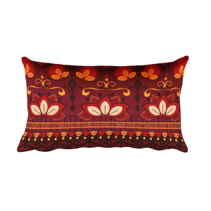 India Pattern Rectangular Pillow