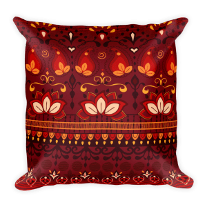 India Pattern Square Pillow