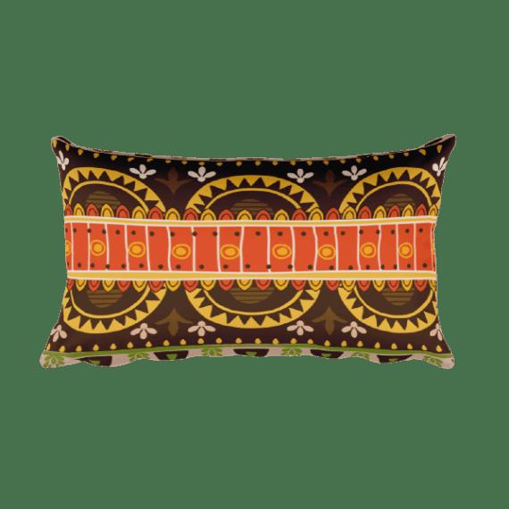 Mexico Brown Rectangular Pillow