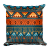 Orange Green Square Pillow