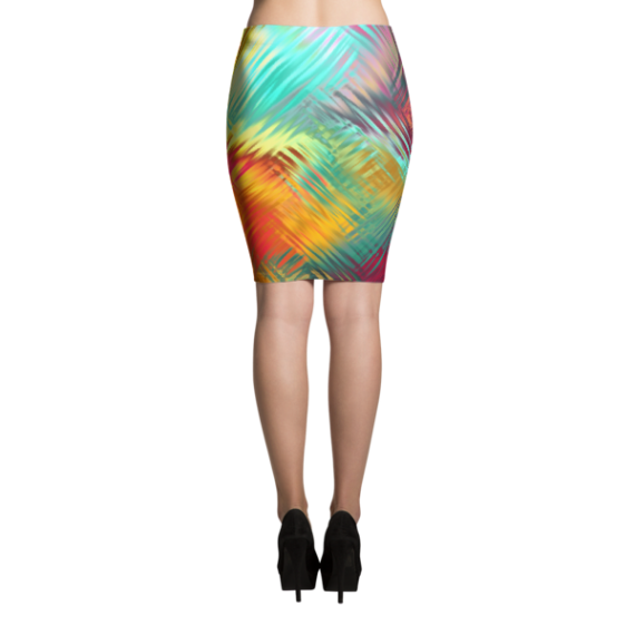 Seamless, Tileable, Tropical Sublimation Cut & Sew Pencil Skirts
