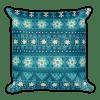 Snow Flake Decor - Christmas - Blue - Gift Square Pillow