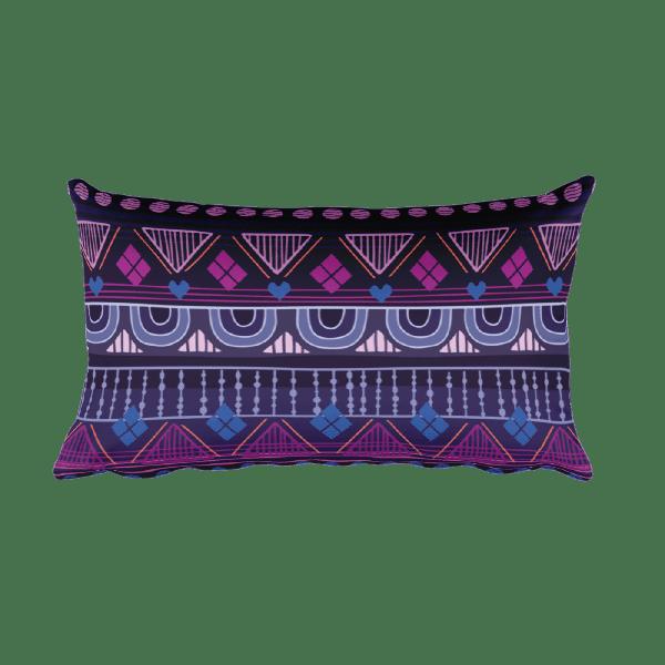 Tribal Raspberry Rectangular Pillow
