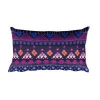 Tribal Raspberry Rectangular Pillow