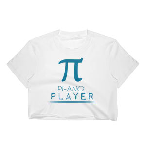 Women's Piano Player - Mathematics Pi Symbol Crop Top