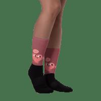 Cartoon Funny Heart Black foot socks