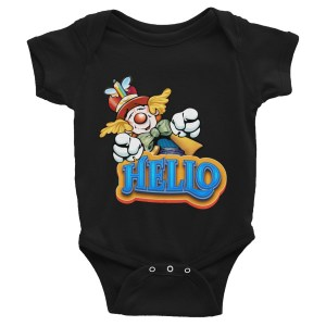 Clown Greeting Infant Bodysuit