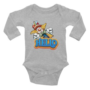 Clown Greeting Infant Long Sleeve Bodysuit
