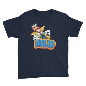 Clown Greeting Youth Short Sleeve T-Shirt