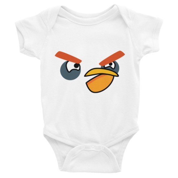 ANGRY BLACK BIRD Infant Bodysuit