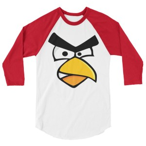 Angry Cardinal Bird LONG-SLEEVE SHIRT