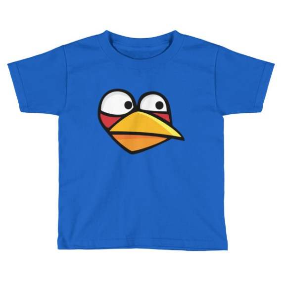 Kids Angry Blue Bird Short Sleeve T-Shirt