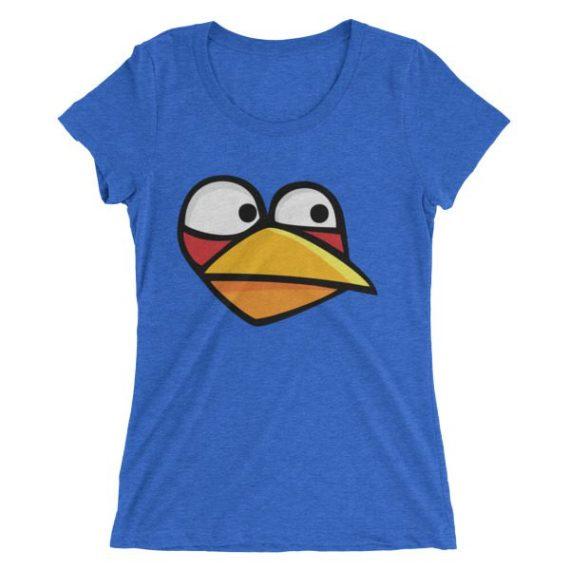 Ladies' Angry Blue Bird short sleeve t-shirt