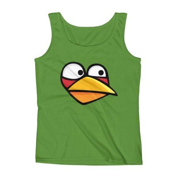 Ladies' Angry Blue Bird Tank Top