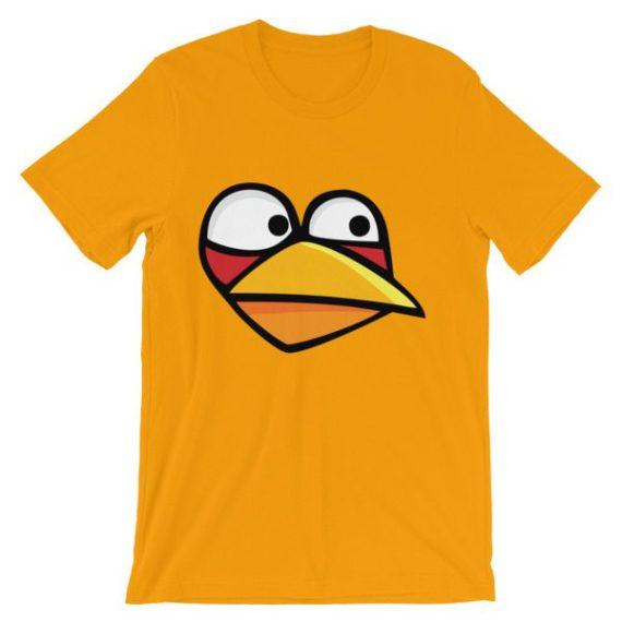 Unisex Angry Blue Bird short sleeve t-shirt