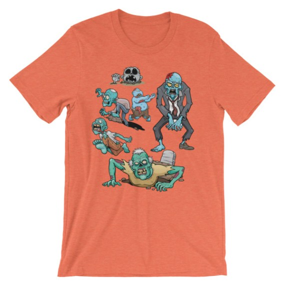 Unisex Dead Zombies Walking short sleeve t-shirt