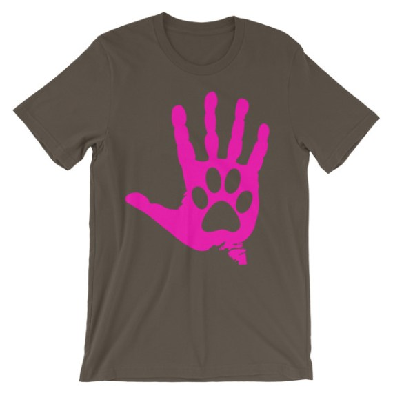 Unisex Hand And Paw short sleeve t-shirt