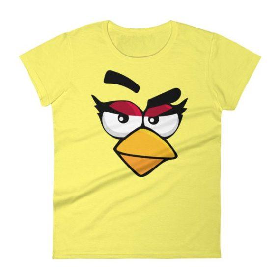Women's ANGRY CARDINAL BIRD FACE short sleeve t-shirt