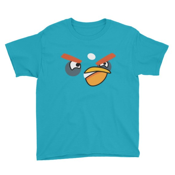 Youth ANGRY BLACK BIRD Short Sleeve T-Shirt