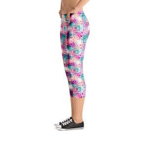 Colorful Snake skin Capri Leggings – RUNNING PANTS