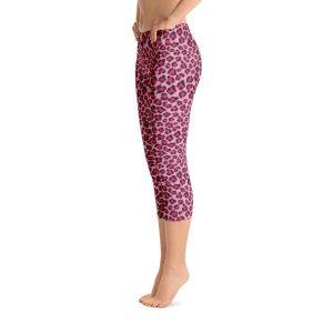 Pink Leopard Skin Capri Leggings – RUNNING PANTS