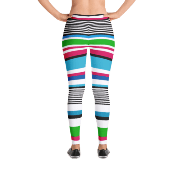Colorful Tightly Striped Lady Leggings