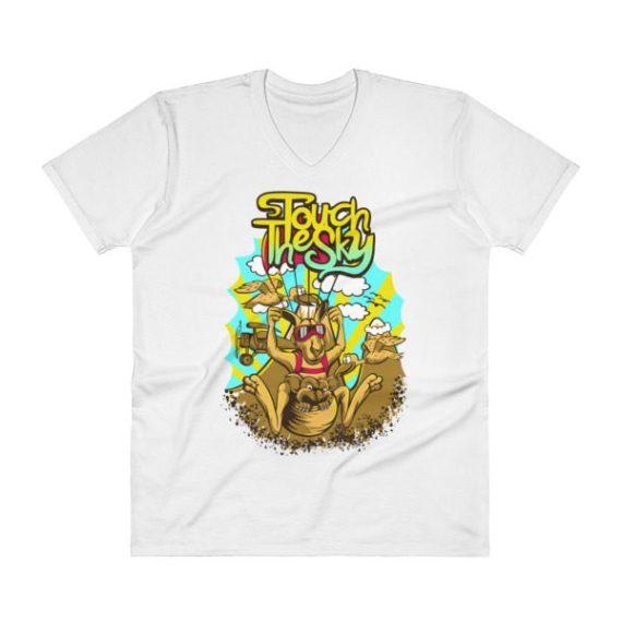 Comic Kangaroo V-Neck T-Shirt