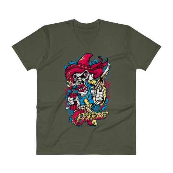 Comic Skull V-Neck T-Shirt
